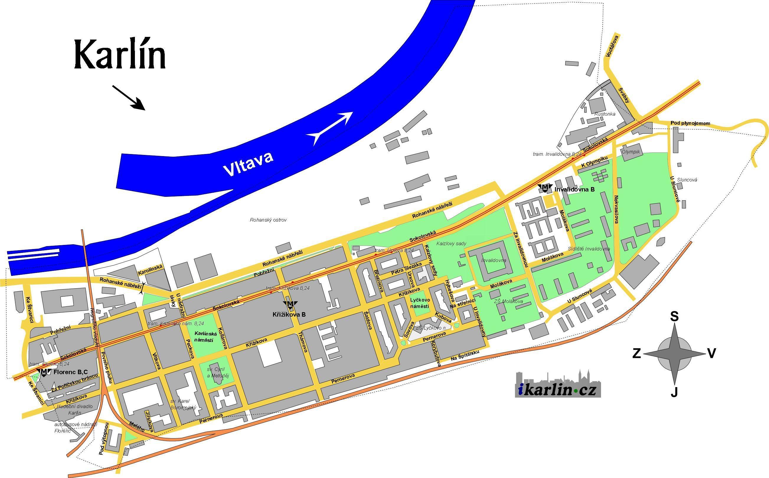 Mapa Karlin Mapa